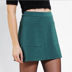 UO Cooperative Pebbled A-line Skirt in Sapphire